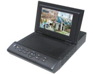 画像1: 7インチモニター搭載4チャンネルデジタルHDDレコーダー