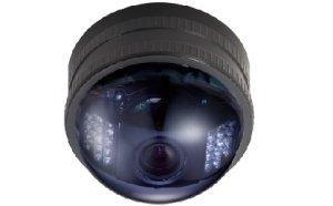 画像1: 赤外線投光器内蔵バリフォーカルカラードームカメラ