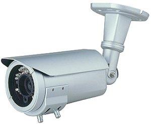 画像1: 赤外線投光器内蔵防水型カラーカメラ